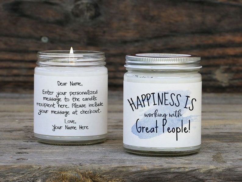 Christmas In July Gift Exchange Ideas.Positive Coworker Gift Candle Card Personalized Gift For Coworkers Colleagues Christmas Gift Exchange Or Coworker Leaving Gift Ideas