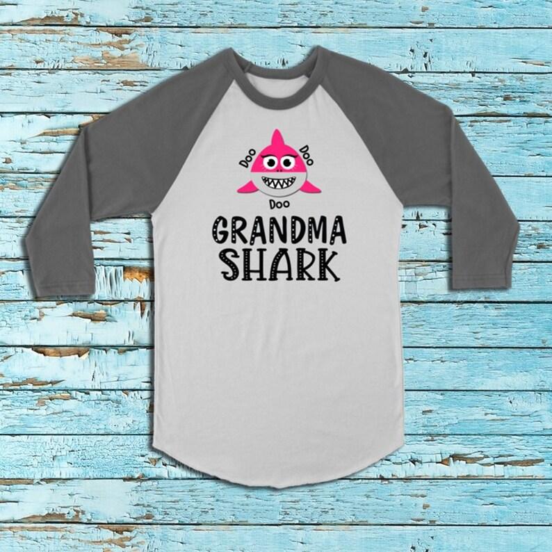 ee059eebb Grandma Shark Shirt Shark Shirt Funny Shark Shirt Beach Bum   Etsy