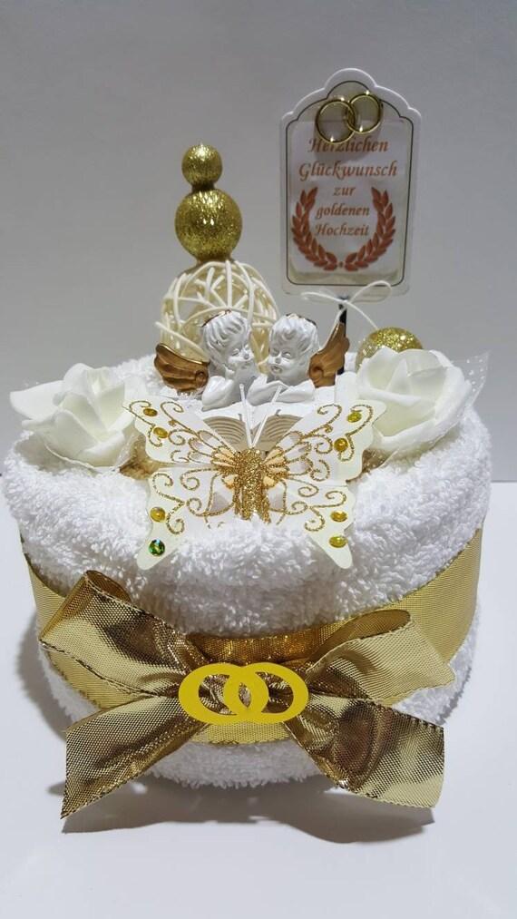 Goldene Hochzeit Torte Aus Handtücher Handtuchtorte