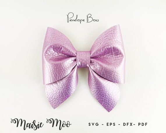 Pinch Bow Template Svg Sailor Bow Pdf Hair Bow Template Etsy
