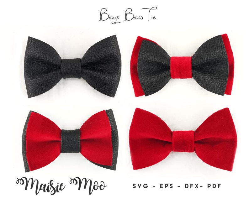 Bow Tie SVG Template Christmas Boys Bow Tie Pattern Faux image 0