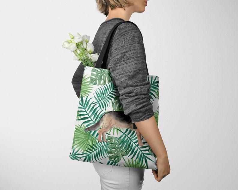 All purpose: for work Illustrated dogs /& 6 Travel inspired styles shopping life German Shepherd Dog Tote Bag Alsatian shoulder bag