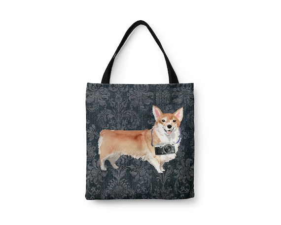 Travel Bag Beach Tote Bag for Women Cute Tote Bag Large Cute Dog Breed Welsh Corgi
