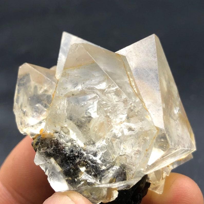 Natural Inner Mongolia white Cube fluorite crystal specimens #Q176 68g Inner Mongolia white fluorite