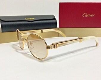 583b7420b0 Vintage Cartier White Buffalo Horn Sunglasses