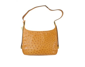 1e1ce3b7b7 VINTAGE-OSTRICH Handbags by Bianchi Nardi GAGLIANO-Firenze ( five star ostrich  skin ) 100% Made in Florence Italy Col. Caramel