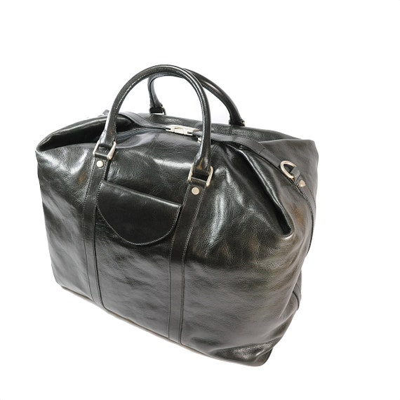 Vintage,Cowhide Travel Bag Made in Florence Italy-