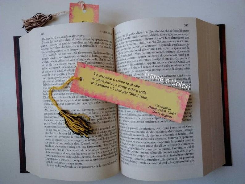 Segnalibro Divina Commedia Paradiso Segnalibro Con Citazione Di Cacciaguida Segnalibro Frase Di Dante Alighieri In Cartoncino Regalo