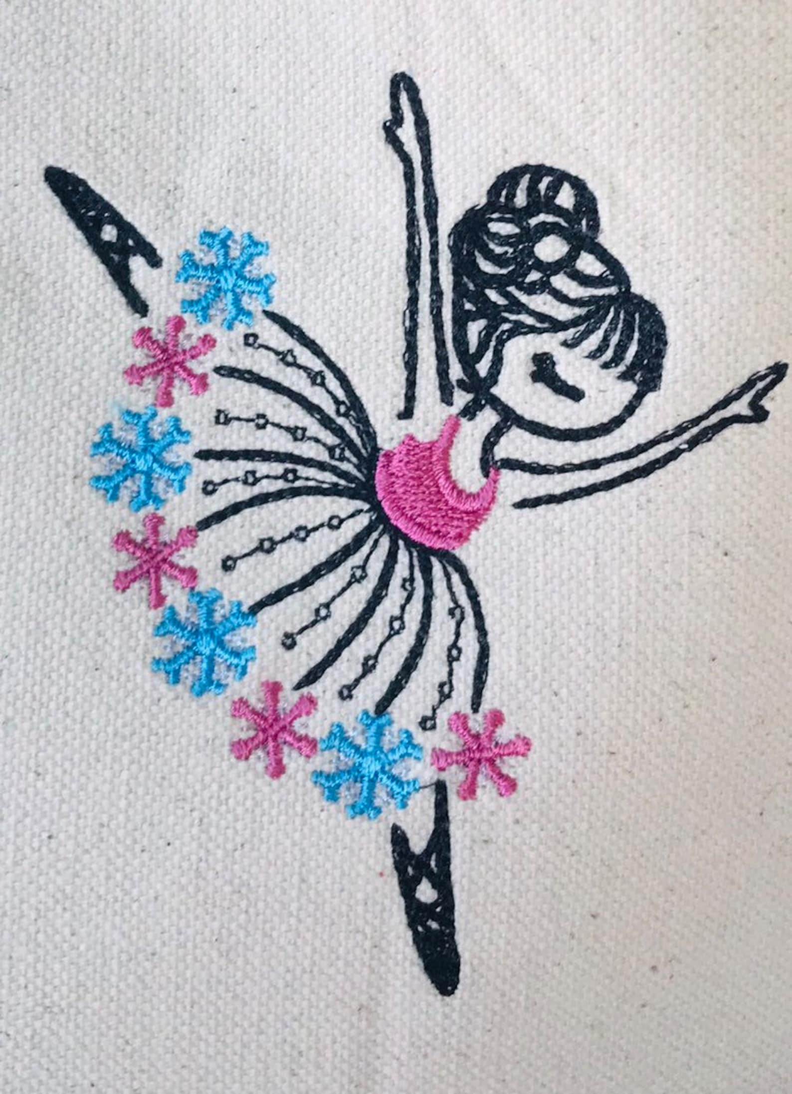 dance bag, ballet bag, girls birthday gift, ballerina tote bag, embroidered easter basket, flower tutu,, snowflake ballerina