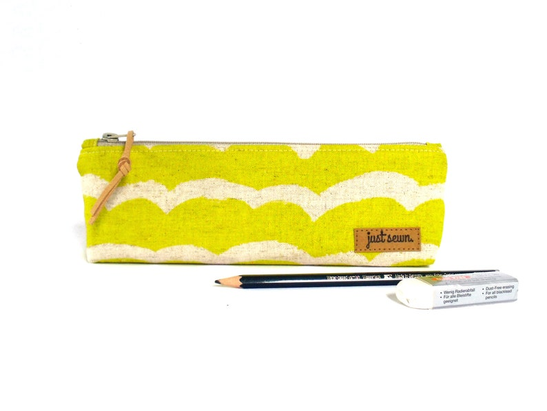 Pencil case Waves  yellow  Japanese image 0