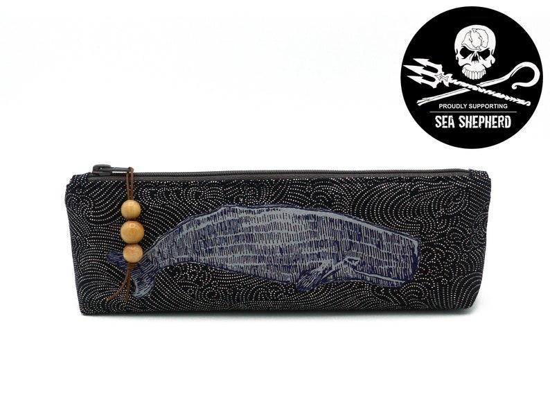 Pencil case Whale  Save the Oceans  Indigo image 0
