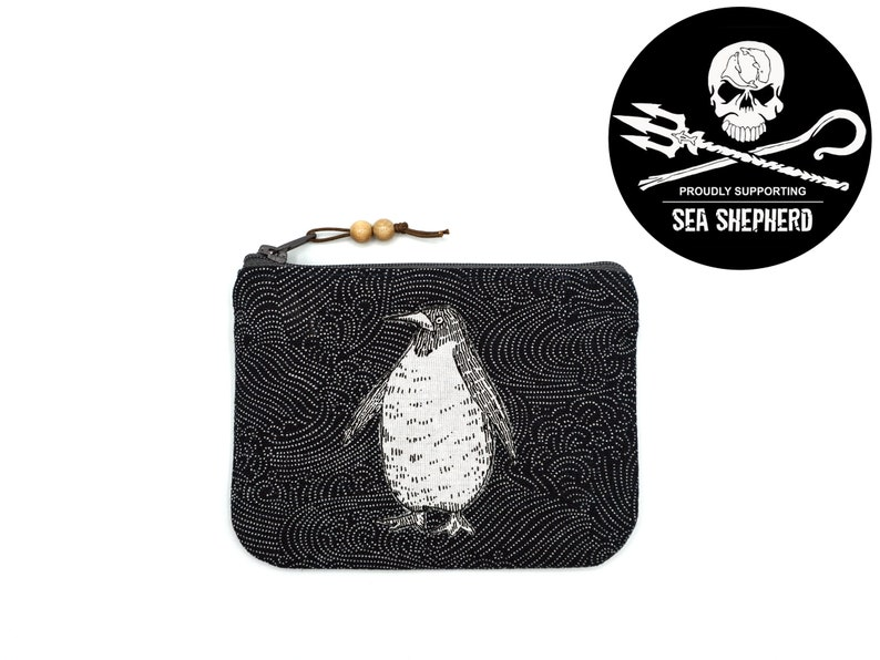 Bag/Makeup Pomede Penguin Indigo  Save the Oceans image 0