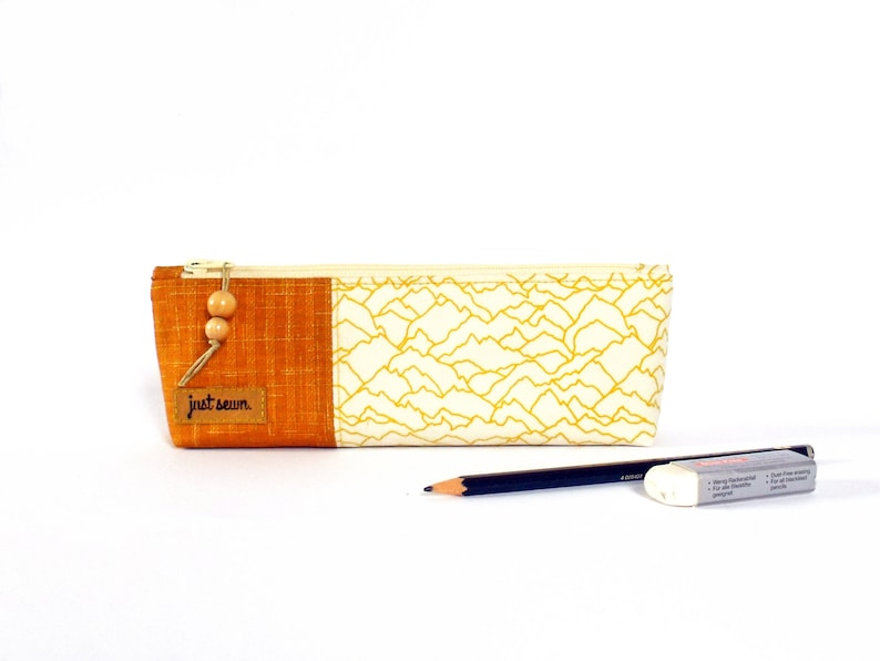 Pencil case Abstract Mountains  yellow image 0