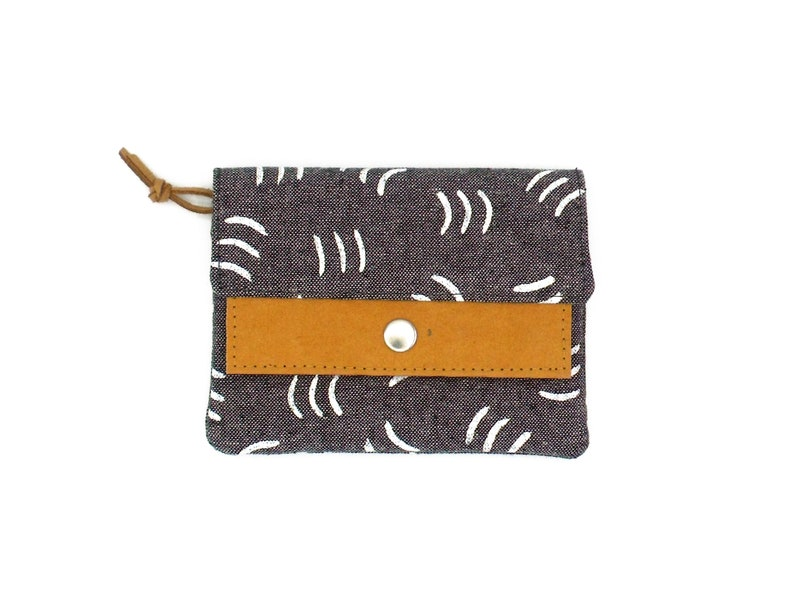 Small Wallet Pattern  Grey image 0