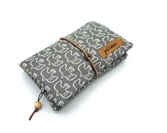 "Tobacco bag/rotary bag ""birds"" | grey"