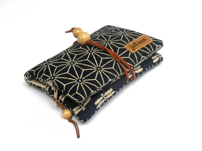 Tobacco Bag/Revolving Bag Asanoha Indigo Stars image 0