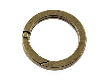 1 large, sturdy carabiner as a flat ring 36 mm