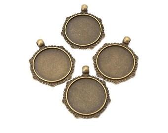 2540 10 Stück Perlenrahmen 21x18mm Hexagon Zwischenperlen Rahmen Antiksilber