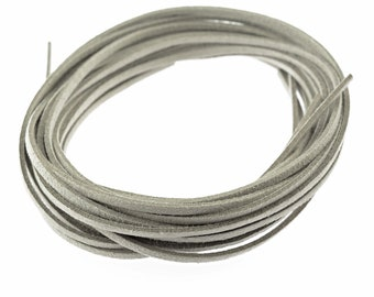 EUR 0.4/1 m 5 velour bands per 1m in grey