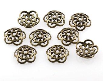 Vintageparts DIY bronces de acero inoxidable en platino colores para 20 mm cabochons