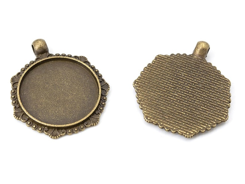 versions in antique bronze for 25 mm cabochons 4 pieces 0.62 EURStk
