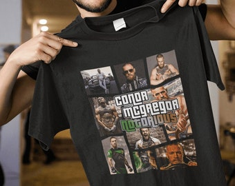 5691f91e Notorious Conor McGregor Poster Game Style MMA Fighter Champion Gift T-Shirt