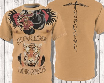 8fd3df69 Conor McGregor Tattoos Upper Body Torso MMA Fan Art Unisex Gift TShirt