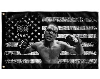 Nick Diaz Army MMA Champion 5ft X 3ft Indoor Fan Art Wall Flag