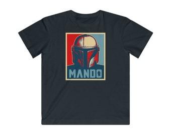 Mando Helmet Bounty Hunter Fan Unisex This Is The Way Kids Gift T-Shirt