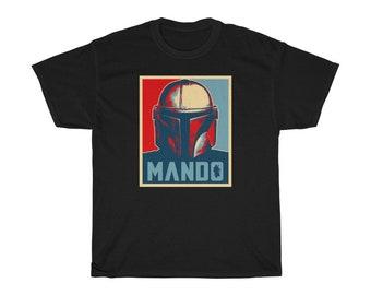 Mandalorian Mando Helmet Bounty Hunter Fan Unisex This Is The Way Gift T-Shirt