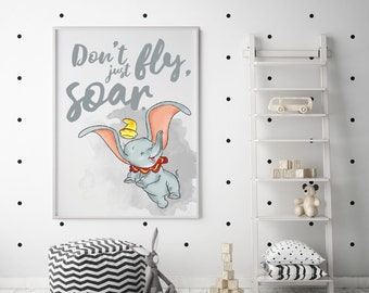 36f5baaac5 Dumbo Quote Print  Framed A4
