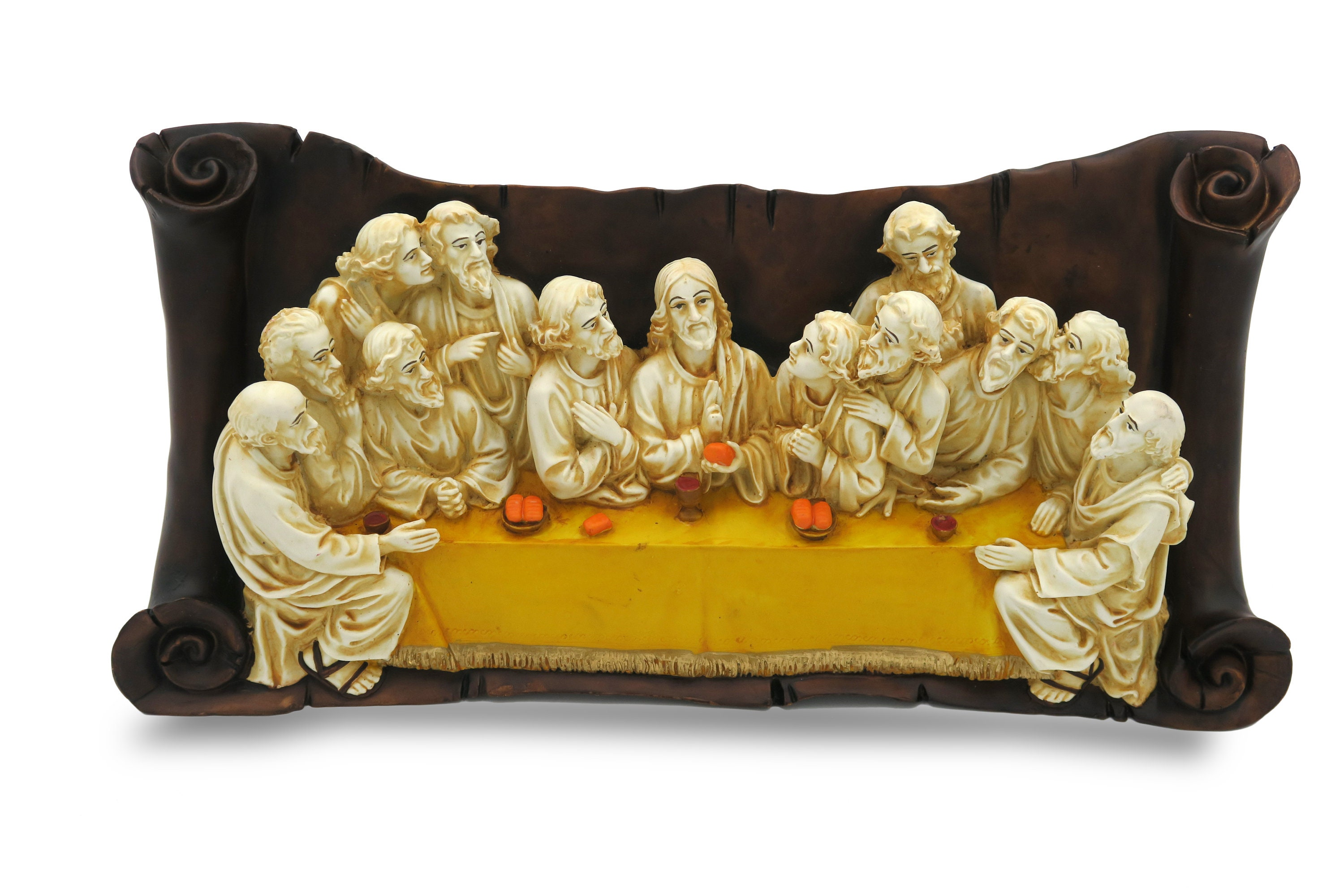 The Last Supper handmade in polyresin wall hanging 16 inches | Etsy