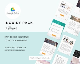 Google Slides EDITABLE Inquiry Pack For Coaches, Enquiry packet, editable printable,Business Template Form, Welcome Template, Sales Funnel