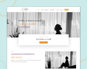 Ava Divi Child Website Template - Virtual Assistant + Coach Website - Custom Blog - Site Theme - Creative Business - Website in a Box