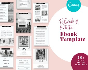 lead magnet Workbook Template for Canva can be used as a marketing kit, for Virtual Assistant, Coaches, Consultants Small Businesses