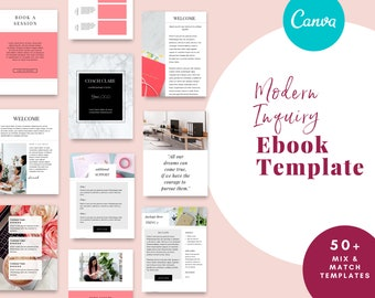 Canva service ebook template perfect for Coaches and Virtual Assistants, Lead Magnet, Marketing Kit, Price List
