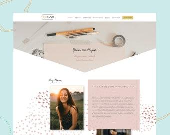 Website Template for Virtual Assistant + Coach Website  Custom design