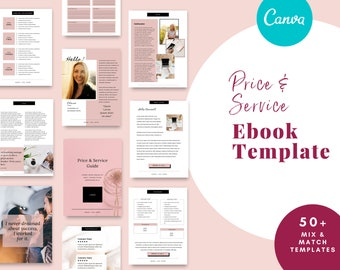 Service and Price Guide for Canva, Client Packet, editable printable,pricing template, business template form, Workflow, Opt in, freebie