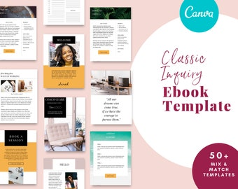 Service Guide For Coaches Virtual Assistant Templates for Canva