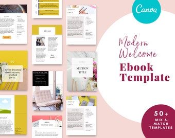 Canva Template eBook & Workbook For Coaches, design as a Opt in, Lead Magnet, Freebie, Planner or Marketing Kit