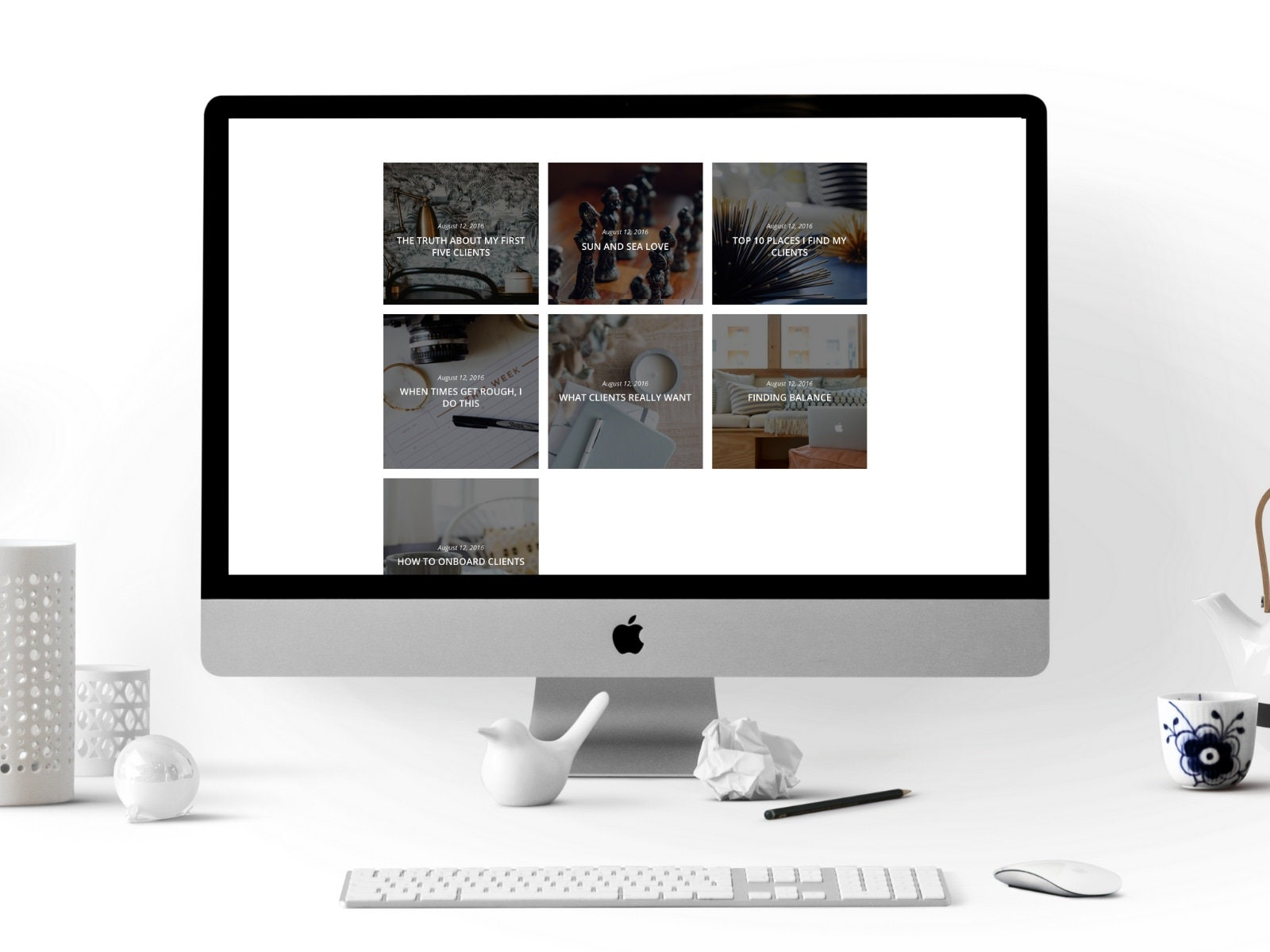 Custom My Design Assistant grid blog page divi add on, website template, perfect for bloggers, virtual  assistant, creative businesses, life + business coaches custom 3