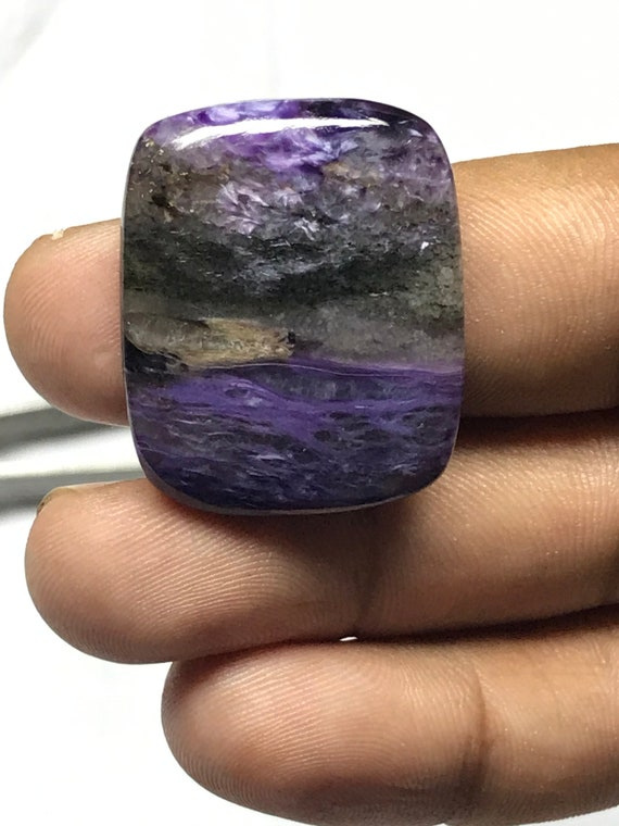 Glorious Charoite loose Stone for jewelry 40 Cts #9320N Natural Purple Russian charoite gemstone Very Rare 100/% Natural charoite cabochon