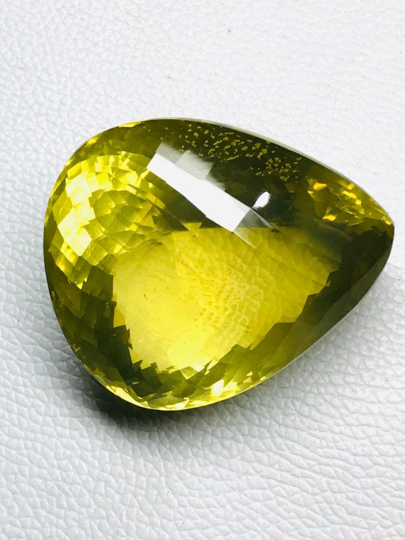 Big Attractive Yellow Lemon Quartz  Faceting loose Gemstone,Pear Shape Lemon Gemstone,Antique Lemon Quartz Size 55x46x33mm,467ct