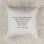 Embroidered pillow cover. Motivational quote. Home Decor. Inspirational quote Cushion. Personalised Cushion 16x16 cushion. customised pillow