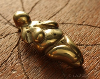 From 39.90 Euro: Pendant Mother Venus of Willendorf Tin Brass Bronze Massive Stone Age Goddess Necklace Self Love Mother Goddess Earth Mother