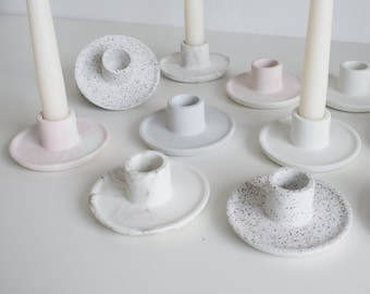 Concrete Candle Stick Holder | Minimal Candle Stick Holder | Candle Holder