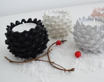Concrete Pinecone Tealight holder | tealight holder | christmas decoration | table setting decor