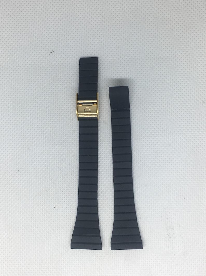 vintage original Swiss made Black metal band bracelet 10m Quality 100/% New #176#