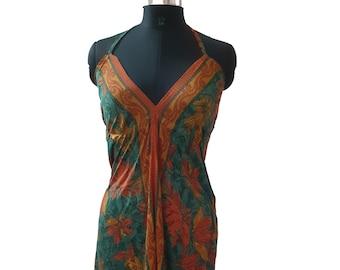 ed8f5a4814 10 Pcs Of Vintage Recycle Sari Silk Maxi Beach Sundress Boho Gypsy Beach  Wear
