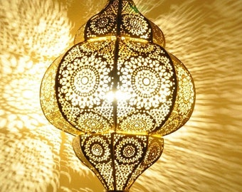 Oriental Henna Arabian Pendant Ceiling Light Lamp Lighting Lantern Morocco